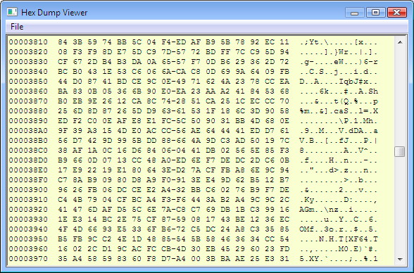 Hexdump binary to hex